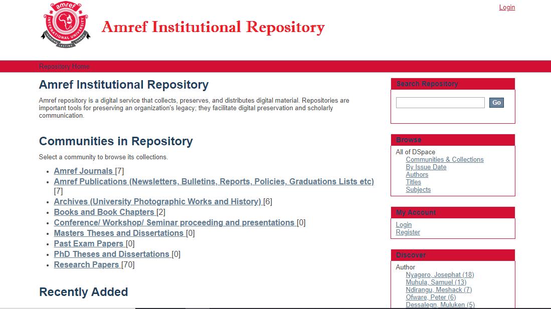 EIFL through KLISC supports Amref in establishing an Institutional Repository